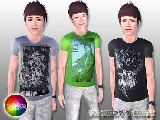 Sims 3 t-shirt, tee, print, cloth, fashion