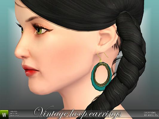 Sims 3 earrings, jewelry, accessories, hoop