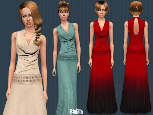 Sims 3 dress, gown, formal, fashion, female
