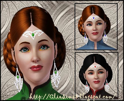 Sims 3 jewelry, accessories, earrings, female, tiara