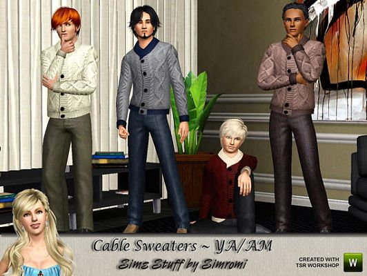 Sims 3 sweater, top, knit, cloth, fashion