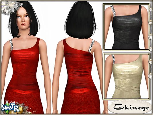 Sims 3 clothing, fashion, outfit, female, skirt, metallic