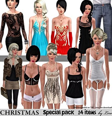 Sims 3 christmas, clothing, outfit, dress, lingerie, gown