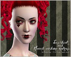 Sims 3 lipstick, costume makeup, female