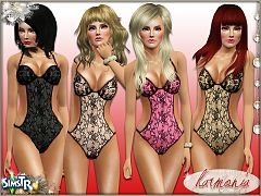 Sims 3 lingerie, sleepwear, fashion, female, outfit, lace, teddy
