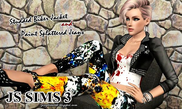 Sims 3 clothing, fashion, outfit, female, jeans, jacket