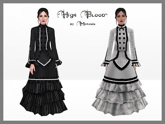 Sims 3 dress, cloth, clothing, outfit, fashion, victorian