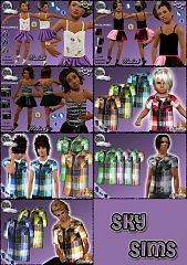Sims 3 clothing, fashion, outfit, female, male, kids