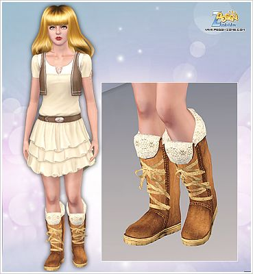 Sims 3 shoes, fashion, female, boots
