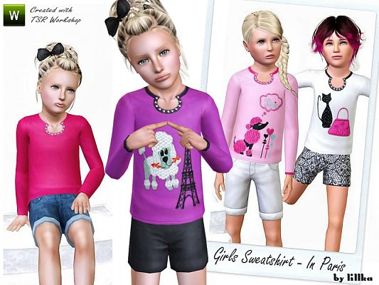 Sims 3 fashion, clothing, girls, sweatshirt
