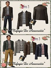 Sims 3 jacket, shirt, male, outfit