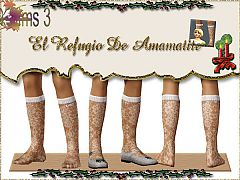 Sims 3 stockings, accessories, child, female