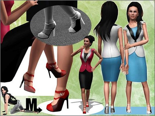 Sims 3 set, cloth, outfit, suit, fashion