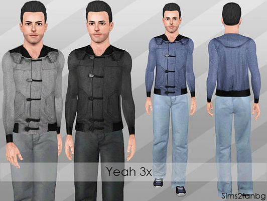 Sims 3 set, cloth, fashion, male, jeans, top