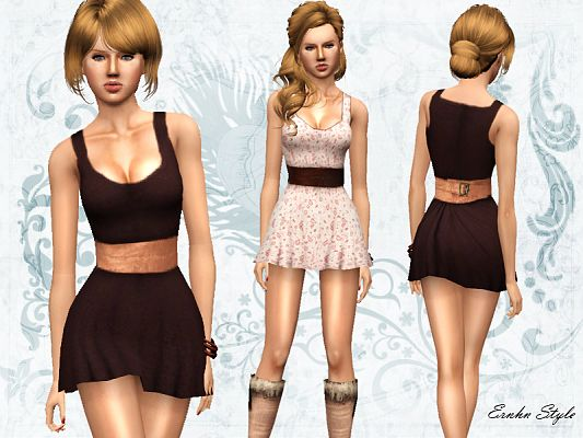 Sims 3 dress, clothing, fashion, female