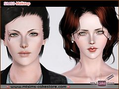 Sims 3 eyelashes, costume makeup, makeup, female