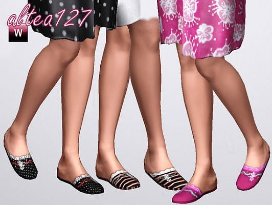 Sims 3 slippers, shoes, footwear