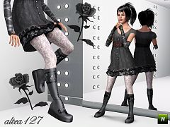 Sims 3 shoes, boots, fashion, female