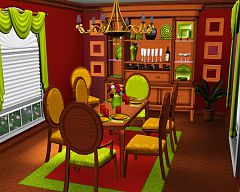 Sims 3 diningroom, dining, furniture, sims, room
