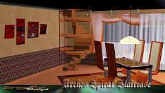 Sims 3 stair, staircase, spiral, build