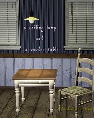 Sims 3 lamp, table, furniture