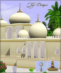 Sims 3 taj, domes, build, miscellanous
