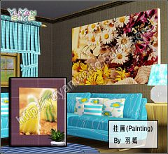 Sims 3 paintings, floral, decor