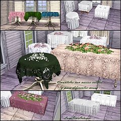 Sims 3 decor, tablecloths, roof, build, objects
