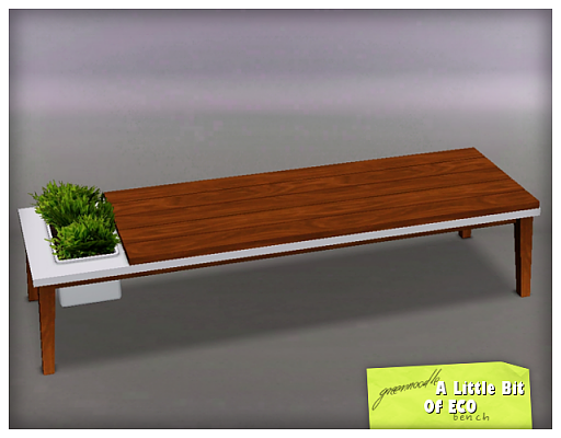 Sims 3 bench, furniture, decor