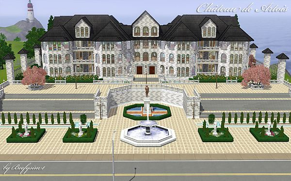 Sims 3 house, building, architecture, cottage, residential, chateau, castle