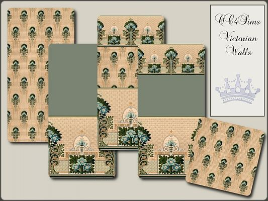 Sims 3 patterns, victorian, walls