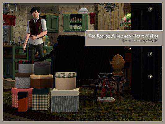 Sims 3 boxes, decor, objects