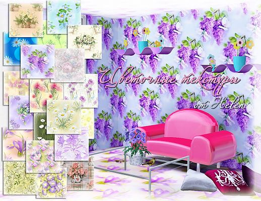 Sims 3 patterns, floral