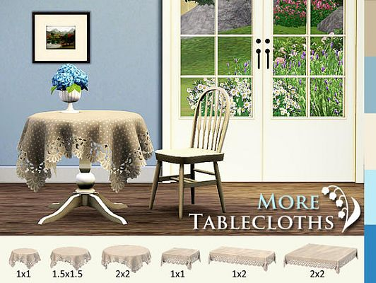 Sims 3 decor, decoration, object, set, tablecloths