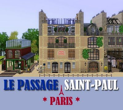 Sims 3 lot, community, passage