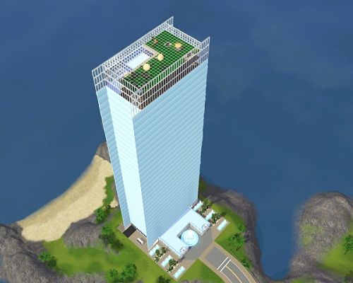 Sims 3 tower, apartment, lot, residential