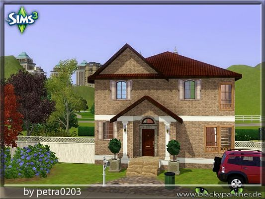 Sims 3 lot, community, park, residential, house