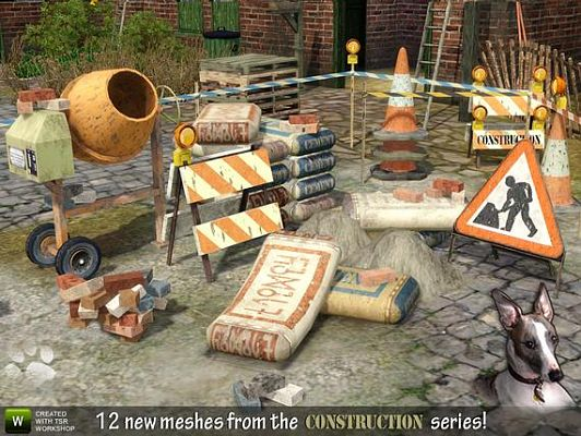 Sims 3 construction, set, objects, decor
