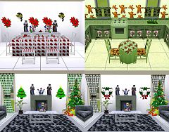 Sims 3 Christmas, theme, patterns, objects