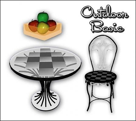 Sims 3 outdoor, set, furniture