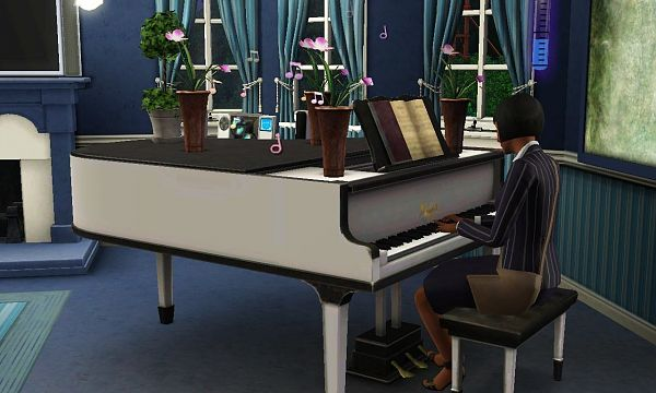 Sims 3 piano, object