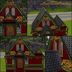 Sims 3 columns, roof, build, objects