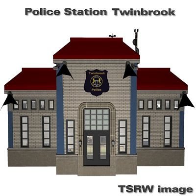 Sims 3 lot, community, police, station