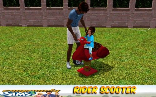 Sims 3 rider, scooter, decor, object