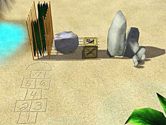 Sims 3 set, outdoor, objects, shower, toilet, hopscotch