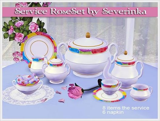 Sims 3 service, set, decor, objects