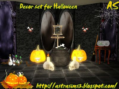 Sims 3 decor, decorations, objects, set, Halloween