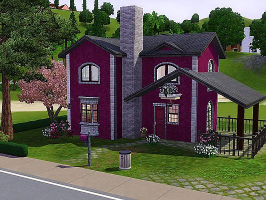 Sims 3 house, building, architecture, cottage, residential, home