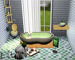 Sims 3 bathroom, decor, clutter, sink, toilet