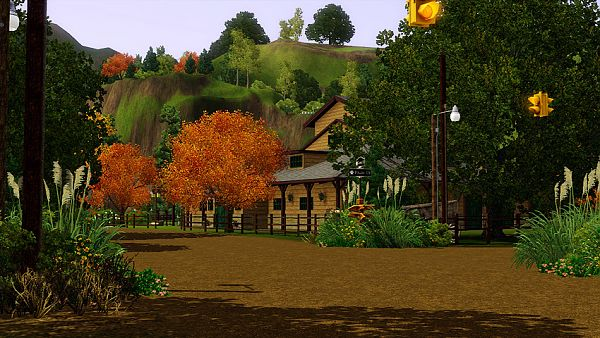 Sims 3 world, neighborhoood